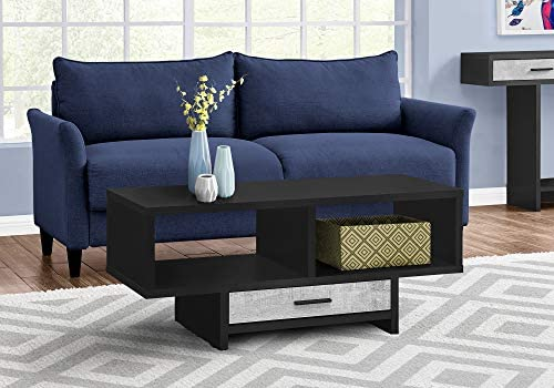Monarch Specialties Drawer Shelves Rectangular Cocktail Accent Coffee Table