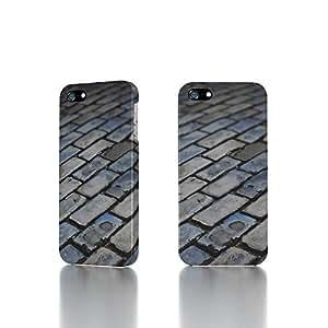 Apple iPhone 5 / 5S Case - The Best 3D Full Wrap iPhone Case - Dark floor tiles