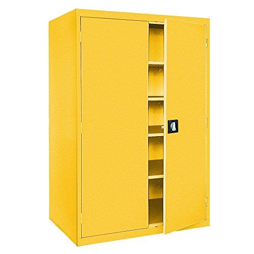 (Sandusky Lee EA4R462478-EY Welded Steel Elite Storage Cabinet with Adjustable Shelves, 24