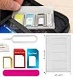 【 紛失防止 クレカより薄い SIM カード ケース ホルダー2セット 】スキマに入る 変換 アダプタ イジェクトピン 4点セット Silver SIMホルダー2セット (カラフル)