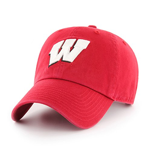 NCAA Wisconsin Badgers OTS Challenger Adjustable Hat, Red, One Size