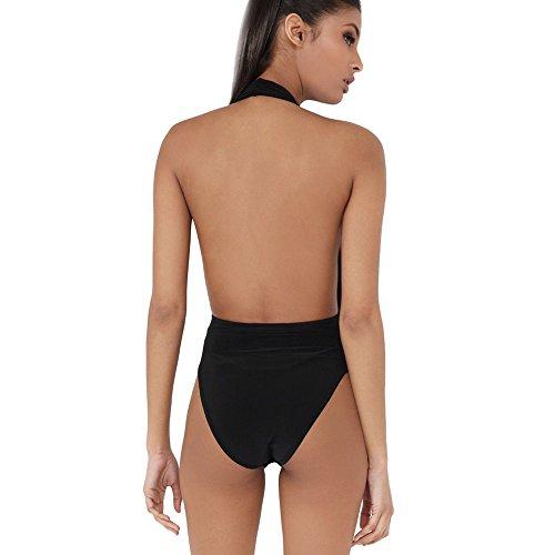 Push Piscina Imbottito Nero Costume Spiaggia Beachwear Tinta Sexy E Donna Swimwear Bagno Unita Swimsuit Mare Costumi Le In Up Honestyi Intero Interi Dello Ragazze Da Bikini Per AwT7axTCq