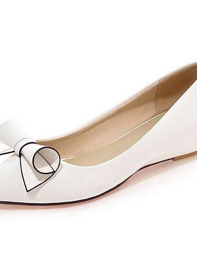 ZQ Zapatos de mujer - Tac¨®n Plano - Puntiagudos - Planos - Oficina y Trabajo / Vestido / Casual - Cuero Patentado -Negro / Rosa / Rojo / , pink-us10.5 / eu42 / uk8.5 / cn43 , pink-us10.5 / eu42 / uk8 black-us6.5-7 / eu37 / uk4.5-5 / cn37