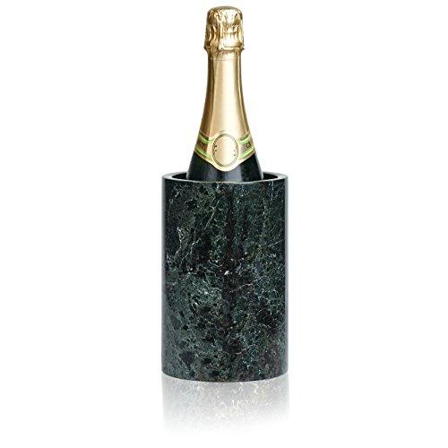 LUXXWARE Premium Black Marble Wine Chiller - 4.5x4.5x7 - Enhanced Cooler | House Decor - Also Serves as Kitchen Utensil Set Holder or Flower Vase - Fathers Day, Dinner Party, Birthday, Hostess Gift