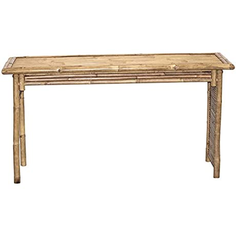 Handcrafted Large Bamboo Work Desk Allows For Easy Setup For Many Home And Office Functions While Adding A Natural And Eco Friendly Beauty To The Space