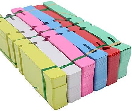フラワーラベル プラスチック製のツリーラベルタグ600個、植物吊りタグ2 x 20 cm防水ガーデンマーカー-6色 園芸用ラベル たんざくラベル (色 : Set of 6*100, サイズ : 20*2cm)