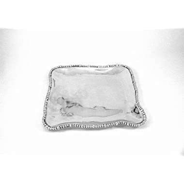 Beatriz Ball Non-Tarnish Organic Pearl Nova Square Platter
