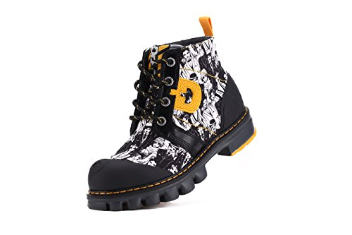 Dr.act Womens Känsla Uppror Målade Boots Black & White