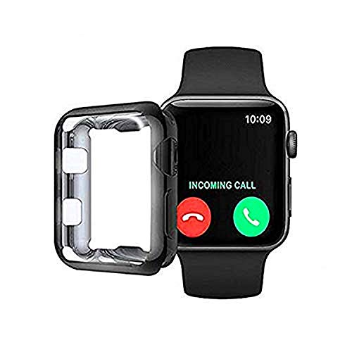 Compatible with Apple Watch Series,Silicone Soft Slim Full-Around Protective iWatch 4 Series Case Cover40/44mm (2, 44mm)
