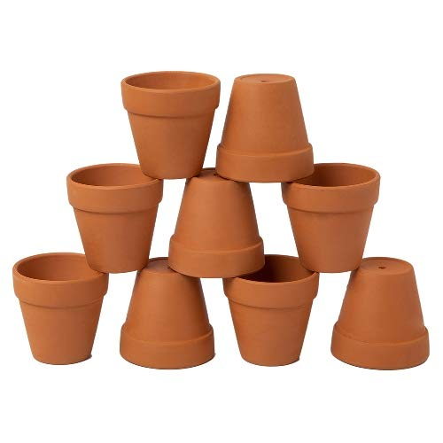 Terra Cotta Pear - AHXML 9 Pcs 3'' Small Terracotta Flowerpot with Drainage Hole for Indoor or Outdoor Plant Gardening