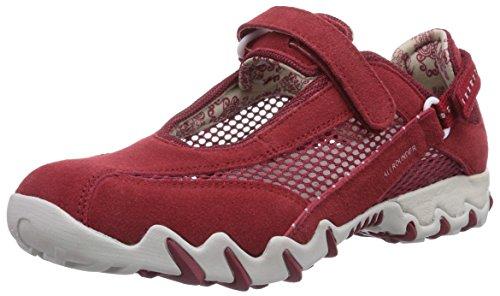 Allrounder by Mephisto NIRO C.SUEDE 48/OPEN MESH 48 RED/RED - Zapatillas De Deporte Para Exterior de terciopelo mujer rosa - Pink (RED/RED)