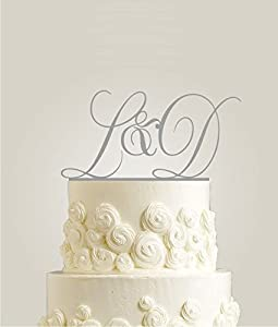 personalised name wedding cake toppers uk initial wedding cake topper personalized with last name 18220