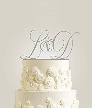 Initiale Pour Gâteau De Mariage Personnalisée Avec Le Nom