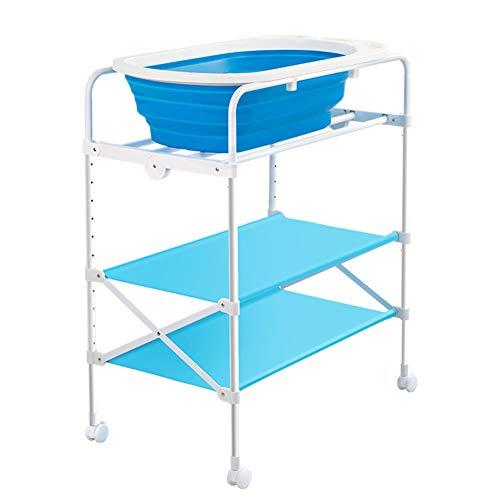 Mesa para cambiar pañales Ducha plegable de la bañera de la estación de baño del bebé, aparador infantil portátil del...