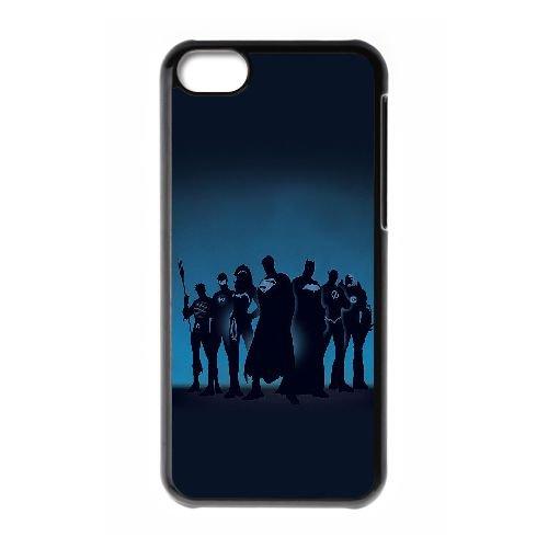 L8M03 Super Heroes Q1Q5ZV coque iPhone 5c cellulaire cas Téléphone couverture de coque KP3HHY1PS noirs