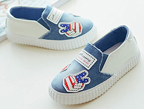 iDuoDuo Boys Girls Fun Print Outdoor Leisure Shoes Easy Slip On Loafer Flats Blue 12 M US Little Kid by iDuoDuo (Image #7)