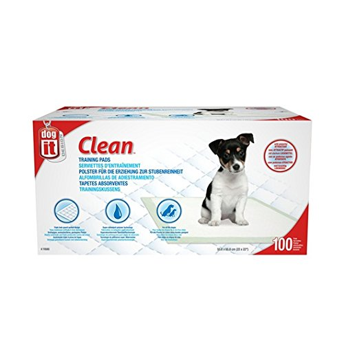 Dogit 70585 Clean Training Pads, 55.8cm x 55.8cm (22 x 22 in), 100-Pack