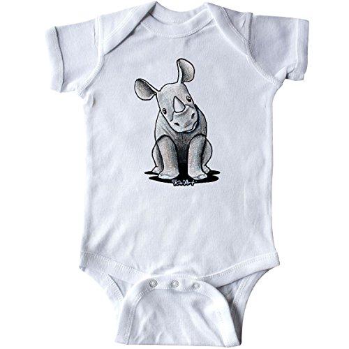 inktastic - Curious Rhinos Infant Creeper Newborn White - KiniArt cae0 ()