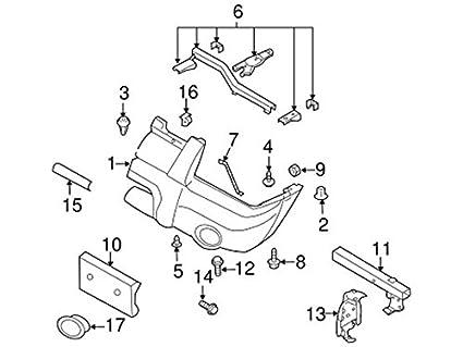 Amazon Com Genuine Nissan 62256 9z440 Bumper Finisher Automotive