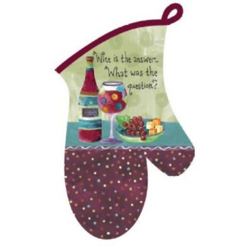 Dee Oven Mitt Kay Designs (Kay Dee Designs Cotton Oven Mitt, Wine is The Answer)