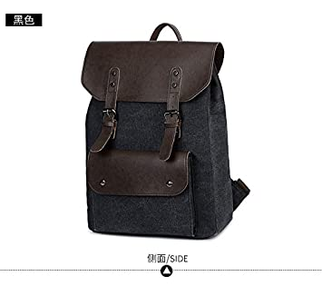 8cb54e6ea746 Amazon.com : KEROUSIDEN Student Bag Canvas Retro Casual Men's Bag ...