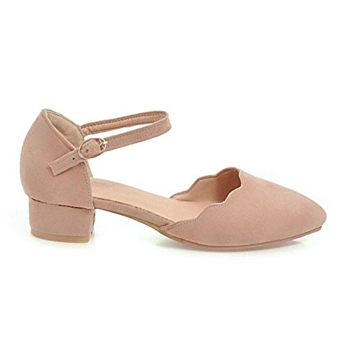 Chaussures TAOFFEN Femmes Cheville Ete Pink Bride qWYrOYEwcB
