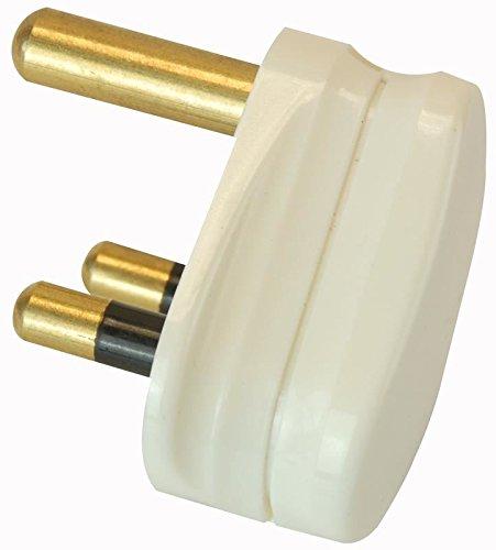 Pro Elec 15A, 3-Pin, Round Mains Plug, White