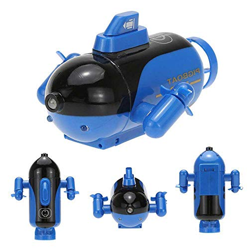 Womdee RC Submarine Mini Submarine Remote Control Toy, Model Ship Electronic Waterproof Underwater Submersible, Remote Range Control Submarine Put It in The Pool Tub Worked Fine