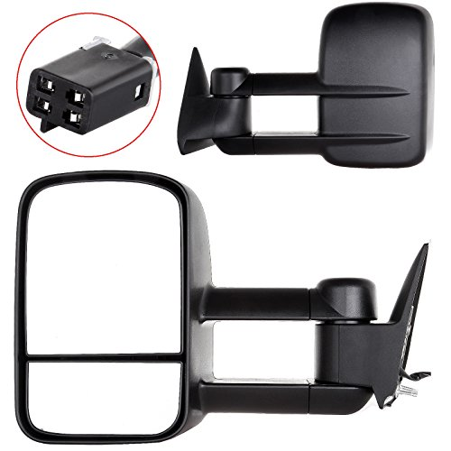 OCPTY Pair Set Side View Power Towing Mirrors Replacement fit for Chevy/GMC C/K /Suburban/Yukon /Tahoe Driver Left Passenger Right (L+R) Set ()