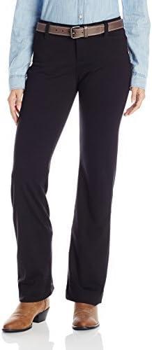بنطلون جينز حريمي من Wrangler Rock 47 أسود ذو ساق واسعة