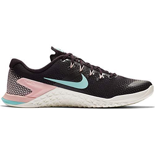 - Nike Women's Metcon 4 Training Shoe Burgundy Ash/Aurora Green/Sail Size 8 M US
