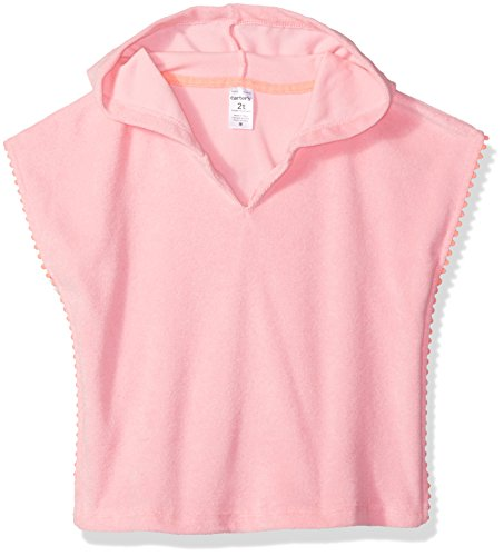 Carter's Girls' Toddler Swim Cover-up, Pink, - Carters Cover Up