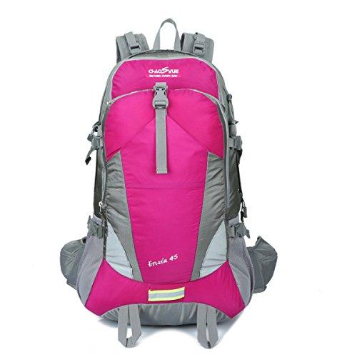 KYFW 45L Ultra Leichtes Outdoor Rock Klettern Klettern Auf Fuß Wandern Camping Bewegung Breathable Nylon Rucksack,D-34*20*61cm-36-55L B-34*20*61cm-36-55L