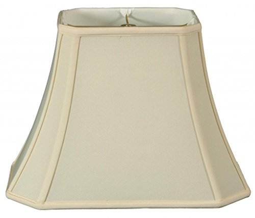 Table Shade Rectangular Lamp - Royal Designs Rectangle Cut Corner Lamp Shade - Eggshell - (5 x 6.5) x (8 x 12) x 10