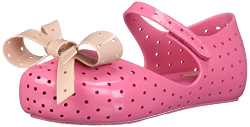 Pictures of Mini Melissa Girls' Mini Furadinha XI Ballet Flat, Pink, 10 Medium US Toddler 1