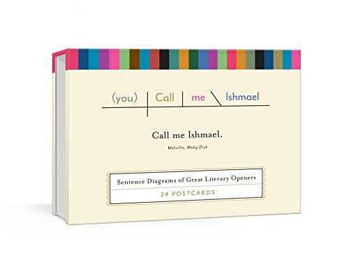 Call Me Ishmael Postcards: Sentence Diagrams of Great Literary Quotes (Pop Chart Lab) (Color Postcards Chart)