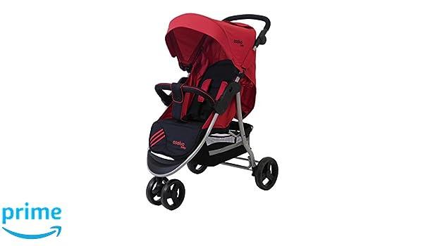 Asalvo Running Stripe - Silla de paseo plegable y multifuncional, color rojo: Amazon.es: Bebé