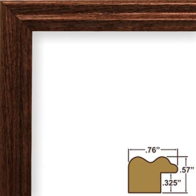 Craig Framess 200ASHBK 0.75-Inch Wide Picture/Poster Frame with Wood Grain Finish