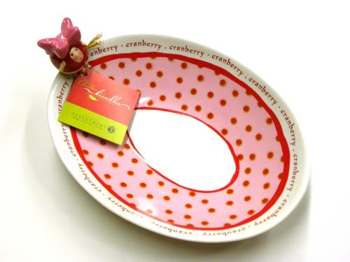 Patience Brewster Christmas Krinkles Cranberry Bowl Retired - Ornaments