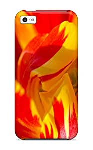 Best Flexible Tpu Back Case Cover For Iphone 5c - Bright Petals