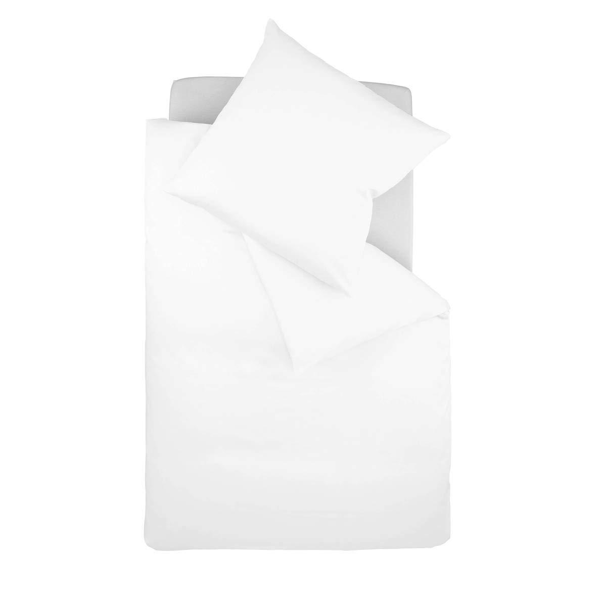 Fleuresse Colours Bettwäscheset, Satin, Weiß (weiß), 240 x 220 + 2 x 80 x 80