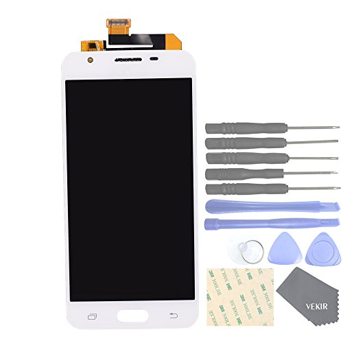 VEKIR Cell Phones Replacement Parts for Samsung Galaxy J3 2017 J3 Pro 2017 J330F J330G Complete LCD Display Touch Digitizer Screen Assembly[NO Screen Frame](White)