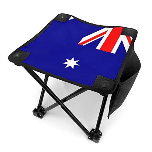 Rong-C Camping Stool, Flag of Australia Fishing Travel Outdoor Folding Stool, Portable Stool for Camping Walking Hunting Hiking Picnic Garden BBQ (Best Portable Bbq Australia)