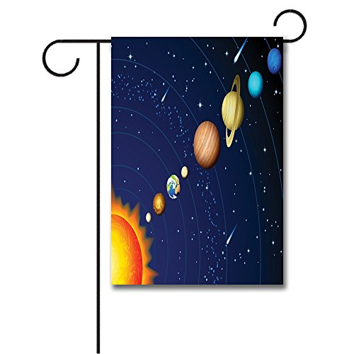Venus Solar System - Wondertify Garden Flags Space Solar System Sun Uranus Venus Jupiter Mars Pluto Saturn Neptune Double Sided House Decoration Polyester Garden Flag 18 X 27 Inches