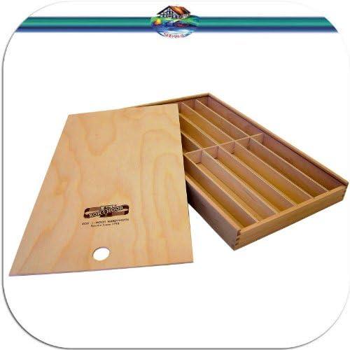 Koh-I-Noor Caja de Madera correderas Madera Caja para lápices ...
