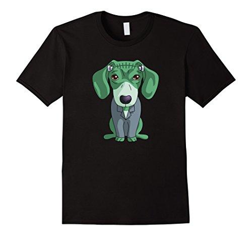 Mens Frankenstein Dachshund T-Shirt Funny Halloween Gift Shirt Large (Halloween Weiner Costume)