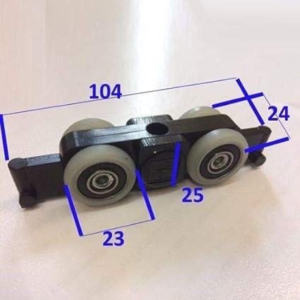 Kit Carros para puertas correderas Alcance 120 kg: Amazon.es: Bricolaje y herramientas