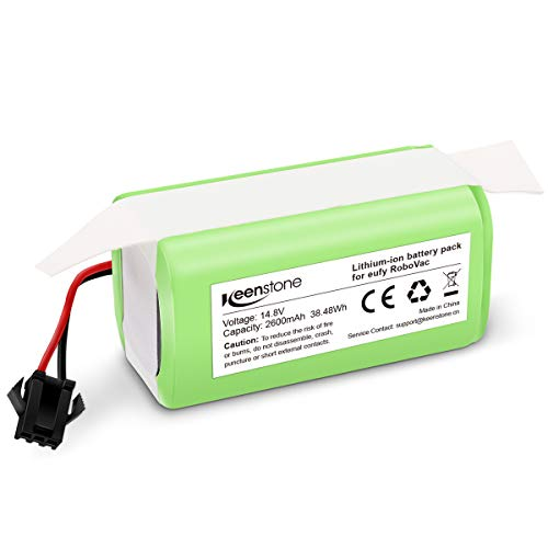Keenstone 14.8v 2600mAh Li-ion Rechargeable Replacement Battery Compatible with Deebot N79S,Eufy RoboVac 11,RoboVac 11S,RoboVac 30,RoboVac 15C,RoboVac 12, RoboVac 35C Ecovacs