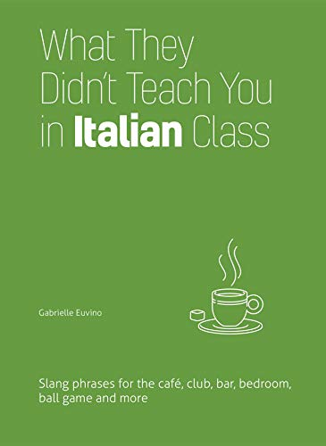 What They Didn't Teach You in Italian Class: Slang Phrases for the Cafe, Club, Bar, Bedroom, Ball Game and More (Dirty Everyday Slang)