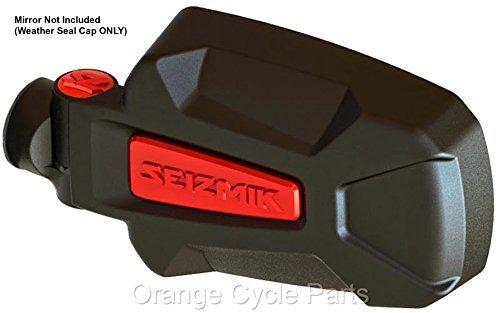 - Pursuit Side View Mirror RED Weather Seal Cap Seizmik 18074
